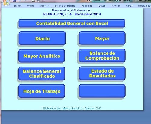 Contabilidad General Con Excel