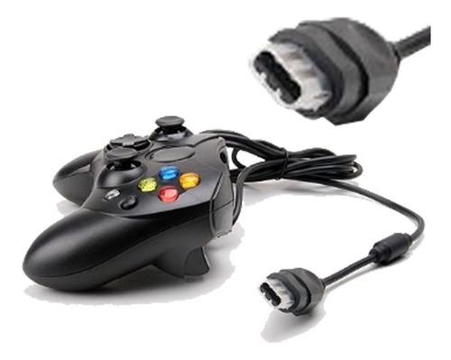 Control Xbox Clasico Color Negro Alambrico Joypad Mando