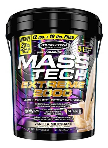 Vaso Mezclador Mass Tech Muscletech