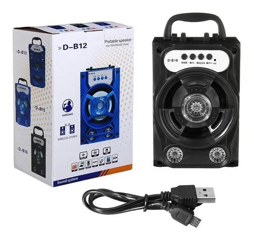 Corneta Portatil Bluetooth, Memoria, D-b12 Tienda Cod 874