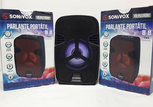 Corneta Portátil Sonivox Bluetooth Radio Sonido Recomendado