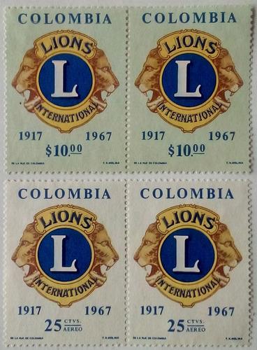 Colombia. Serie: 50 Aniversario Lions International. .