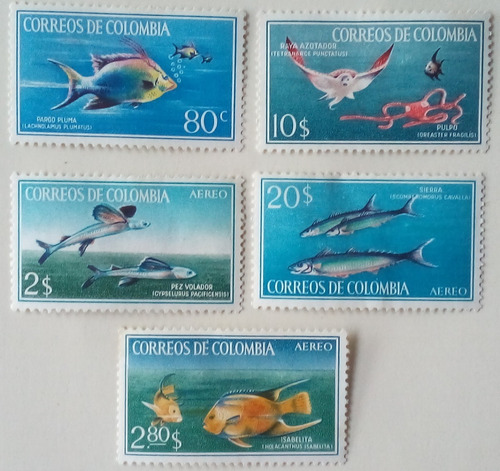 Colombia. Serie: Peces. Año: .