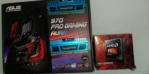 Combo Tarjeta Madre Asus 970 Pro Gaming Amd Fx  Ram 8gb
