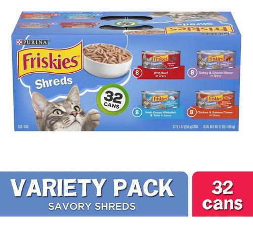 Alimento Húmedo Para Gatos Friskies Lata Importado Pack 32