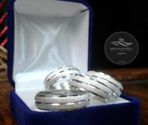 Aros De Matrimonio En Plata Ley 950 100 % Garantizada Oferta