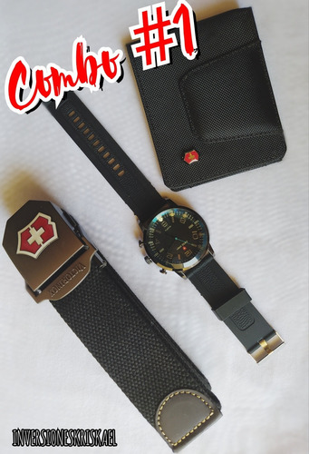 Billetera Correa Reloj Vx Combo Dia Del Padre