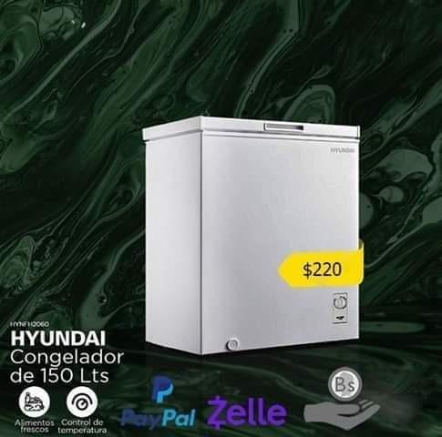 Congelador Horizontal 150l Color Blanco Hyundai