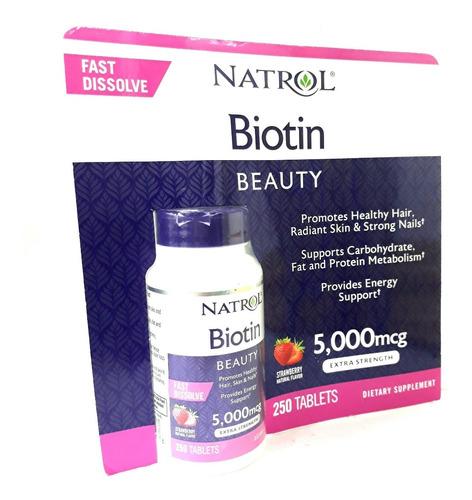 Biotin mcg Promueve Cabello, Piel, Uñas Saludables