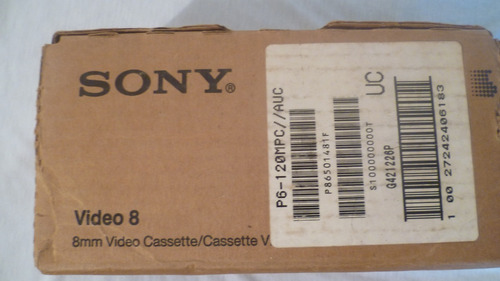 Cintas Cassette Para Filmadora Video 8 Sony P Min Ntsc.