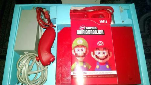 Consola Nintendo Wii Rojo Edición Especial Mario Bross