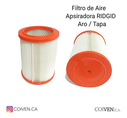 Filtro De Aire Aspiradora Ridgid Aro / Tapa