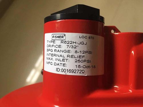 Regulador Gas Fisher (para Bombona) Primera Etapa