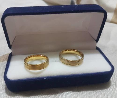 Aros De Matrimonio Acero Inoxidable Talla 7 Con Estuche 10v