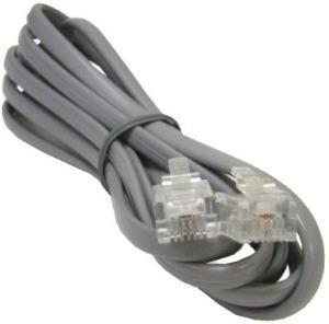 Cable De Teléfono Rj11 Macho A Macho Dos Pares De 2 Mtrs2