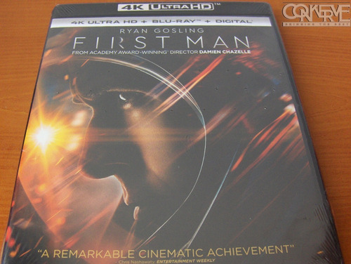 First Man (4k Ultra Hd + Blu-ray + Digital Hd) Original New