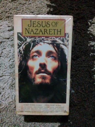 Serie Completa Jesús De Nazareth Vhs 3 Tomos En Ingles