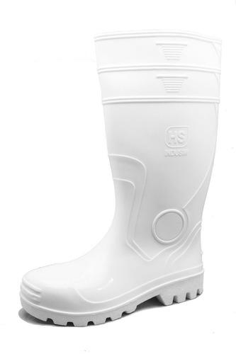 Botas Caña Alta Blanca Con Puntera De Acero Pvc Disponibles