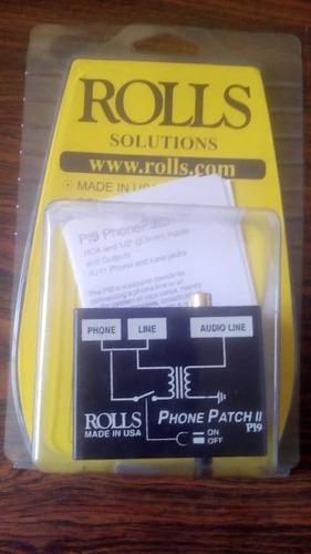 Conector De Teléfono Audio Para Radios Rolls Pi9 Teléfono