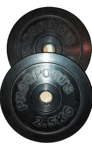 Discos De Pesas Engomados De 2.5kg Diámetro 26mm