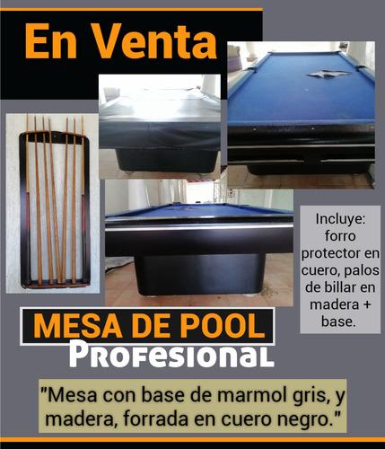 Mesa De Pool Profesional Con Base De Marmol.