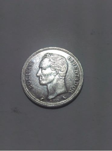 Moneda De Un Bolivar De Plata, De 1960. Gr 5, Lei 835.