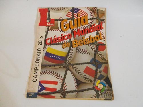 Revista Guia Clasico Mundial De Beisbol