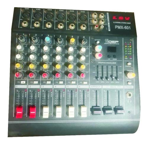 Consola Amplificada De Musica Semi Profesional Lsv 6 Canales