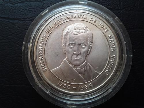 Moneda Bicentenario Del Nacimiento De Jose Maria Vargas