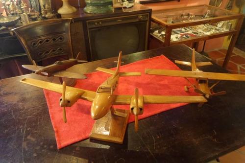 Aviones De Colección En Madera