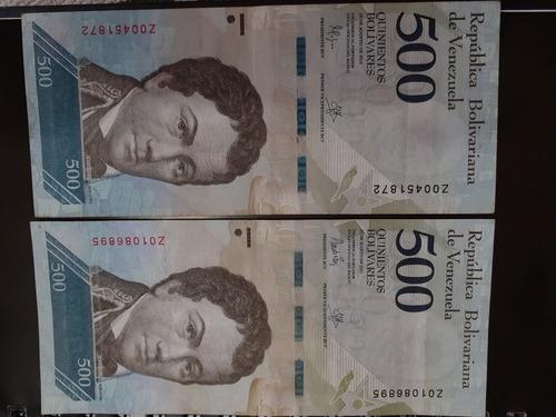 Billete De 500 Bolivares Serial Z