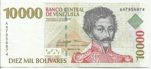 Billete De  Bolívares. Febrero 10 Año