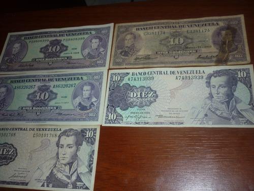 Billete Venezolano Unc De 10 Bs Año  Serie P