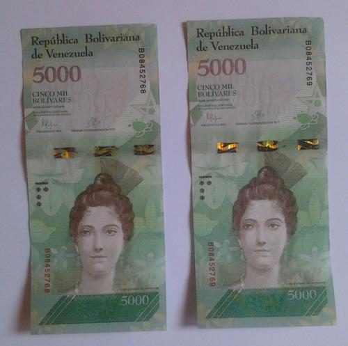 Billetes  Bolivares Serie Consecutiva  De Coleccion
