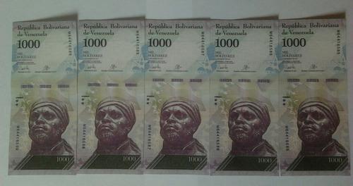 Billetes  Bolívares Serie Consecutiva