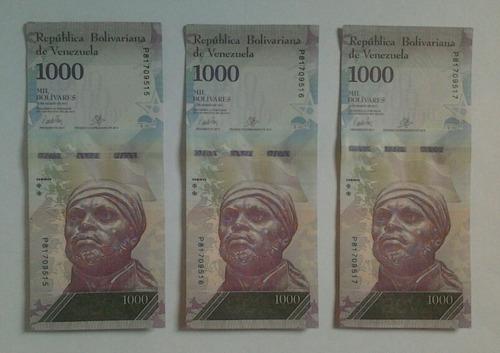 Billetes  Bolívares Serie Consecutiva  De Coleccion