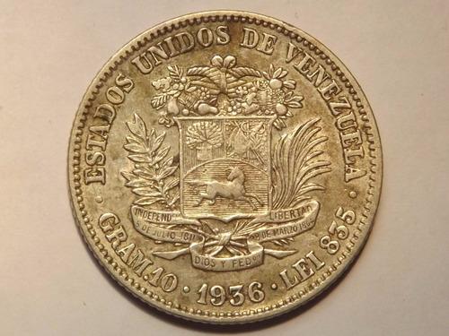 Excelente Moneda De Plata. 2 Bs Bolívares.