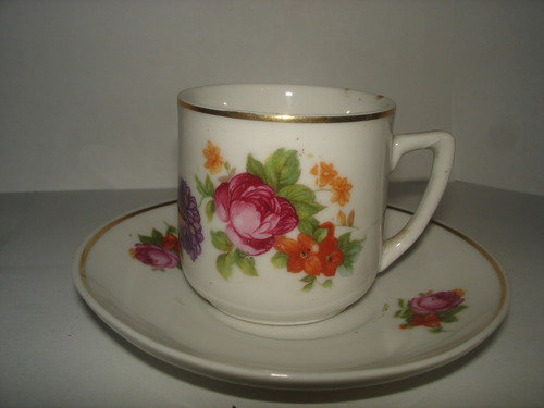 Taza Y Plato De Porcelana Bvavaria Germany Color Blanco
