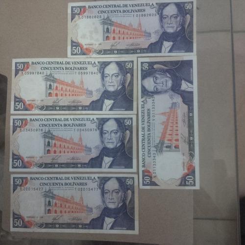 Vendo Billetes Venezolanos Antiguos  De Bs 50.oferta