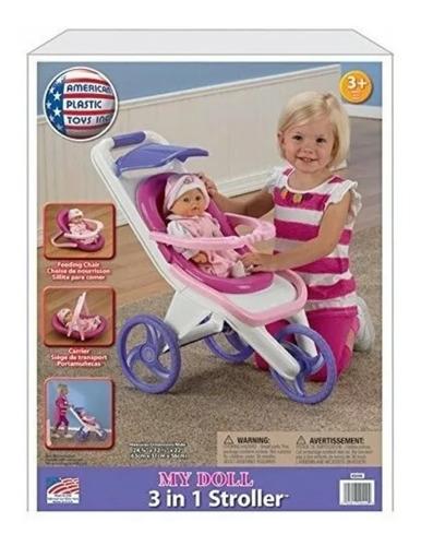 Coche De Muñecas 3 En 1 De American Plastic Toys. 60