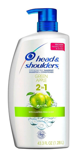Shampoo Head And Shoulders Green Apple 2 En 1 De 1.28 L Zinc