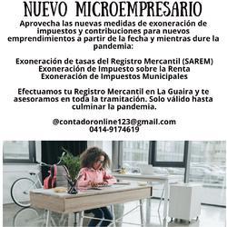 Registro mercantil nuevos microempresarios