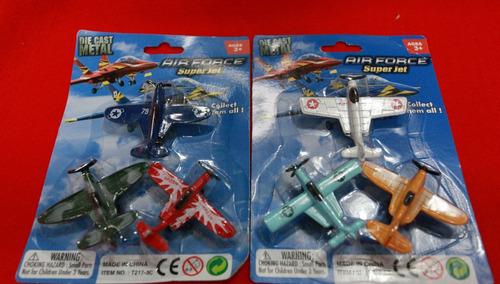 Aviones De Metal Con Ruedas Diseños Coleccionables 2 Packs