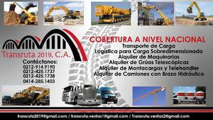 Alquiler de Maquinaria Pesada Transruta 2019, CA