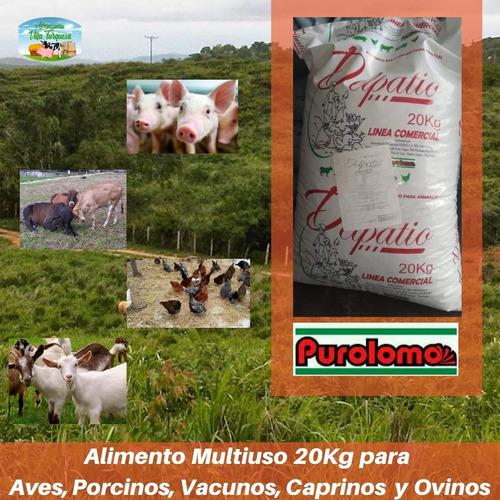 Alimento Para Animales / Multiuso Purolomo Del Patio 20 Kg