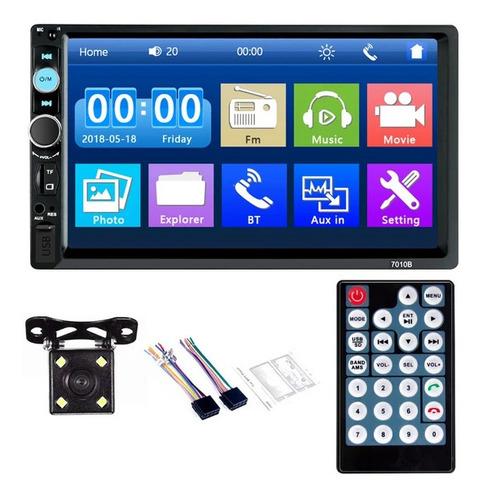 Reproductor Mp5 2 Din Táctil Bluetooth Usb Aux Sd Fm Camara