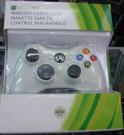 Control De Xbox 360 Inalambrico Blanco Original 25tr
